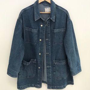 ASOS Oversized Long Jean Jacket.